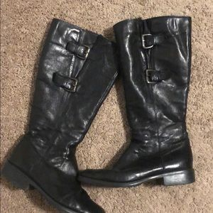 Clark's black leather boots. Size 8.5